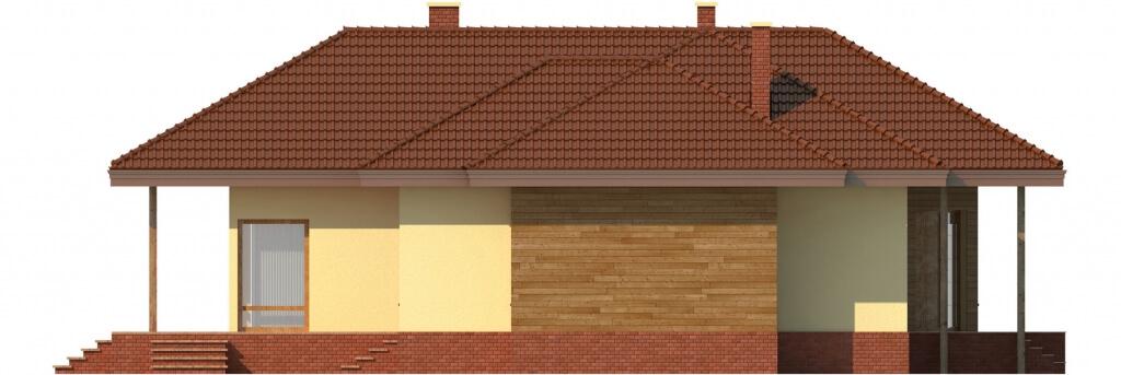 Projekt domu L-6107 - elewacja