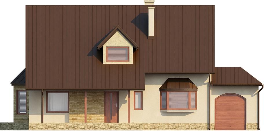 Projekt domu L-6110 - elewacja