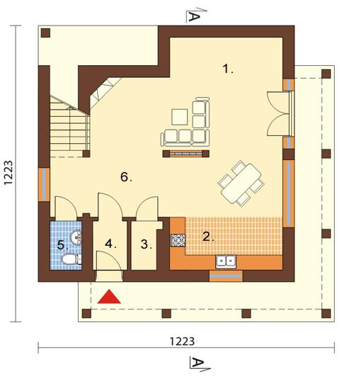 Projekt domu L-6112 - rzut