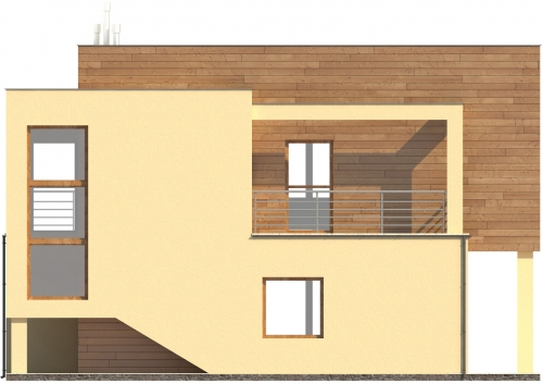 Projekt domu L-6112 - elewacja