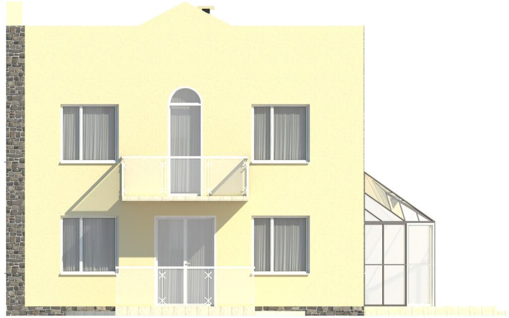 Projekt domu DM-5591 - elewacja