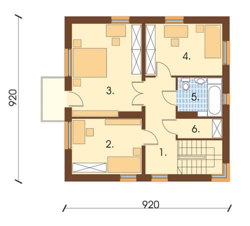 Projekt domu DM-5591 - rzut