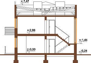 Projekt domu DM-5591 - przekrój