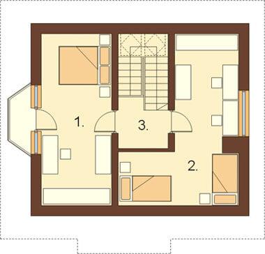 Projekt domu L-6122 - rzut