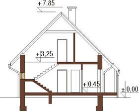 Projekt domu L-6122 - przekrój