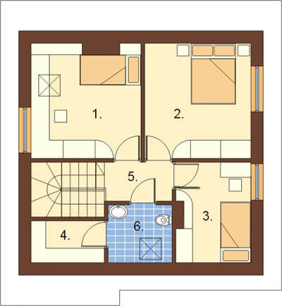 Projekt domu L-6130 - rzut