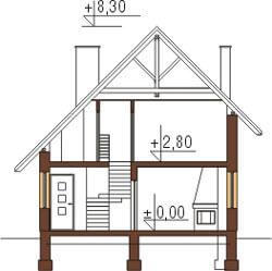 Projekt domu L-6130 - przekrój