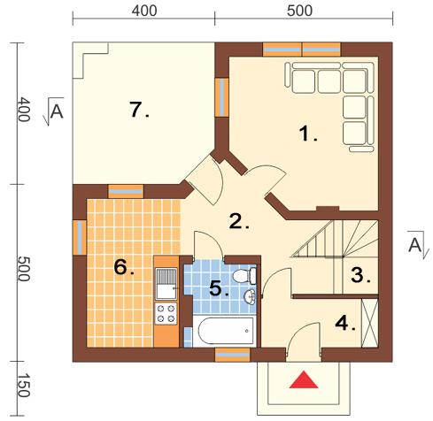 Projekt domu L-6131 - rzut