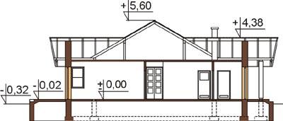 Projekt domu L-6141 - przekrój