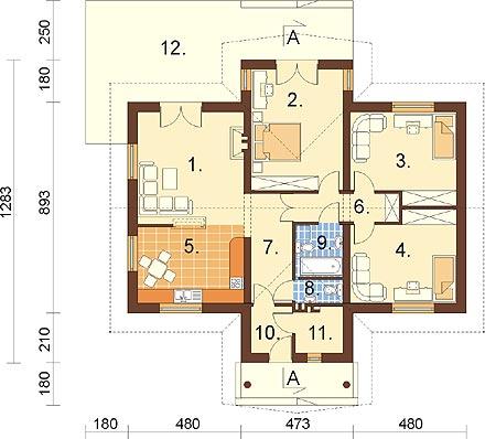 Projekt domu L-6141 - rzut