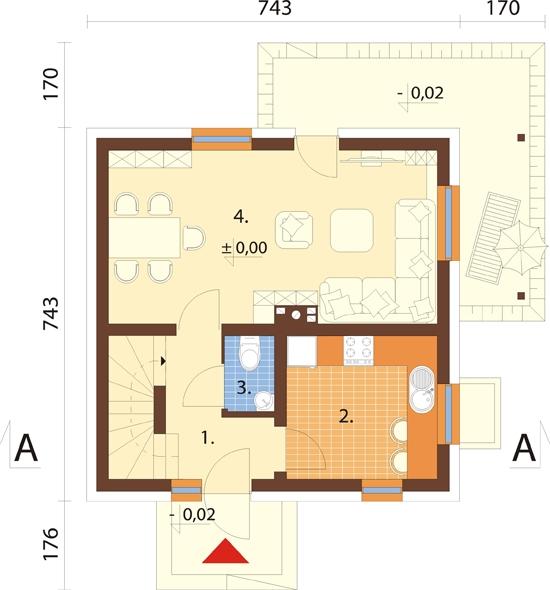 Projekt domu L-6143 - rzut