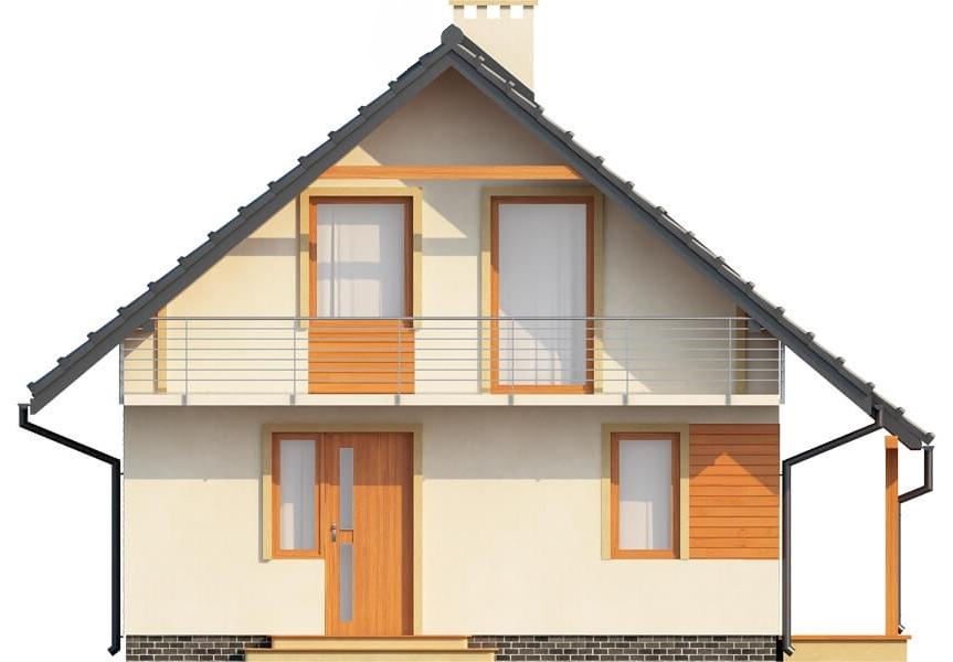 Projekt domu L-6143 - elewacja