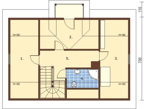 Projekt domu L-6152 - rzut