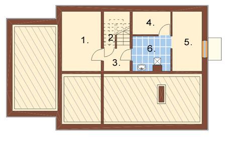 Projekt domu L-6156 - rzut