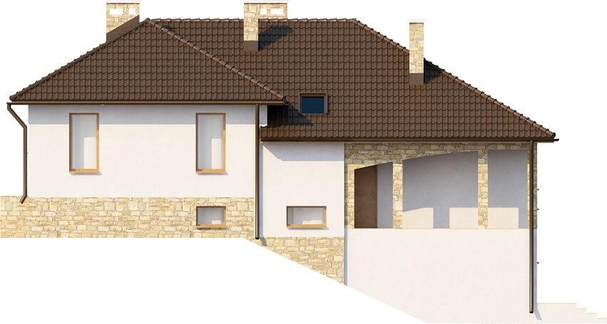 Projekt domu L-6158 - elewacja