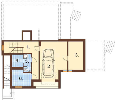 Projekt domu L-6158 - rzut