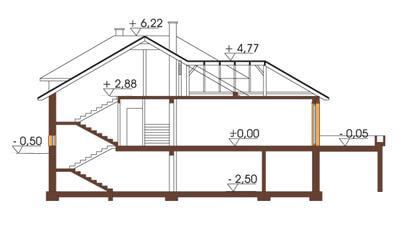 Projekt domu L-6158 - przekrój