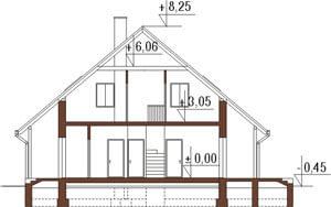 Projekt domu L-6159 - przekrój