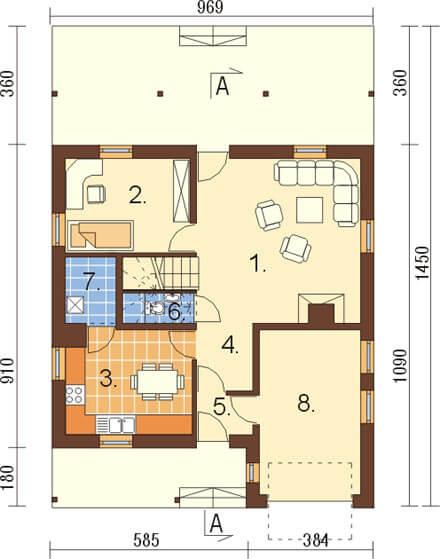 Projekt domu L-6159 - rzut