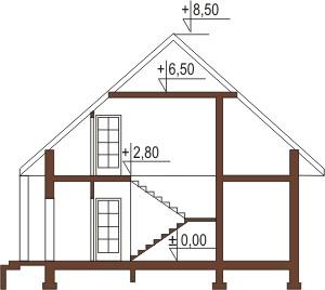 Projekt domu DM-5597 - przekrój