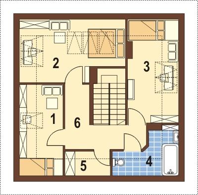 Projekt domu DM-5597 - rzut