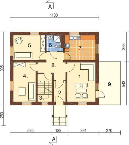 Projekt domu L-6164 - rzut