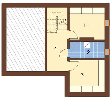 Projekt domu L-6165 - rzut