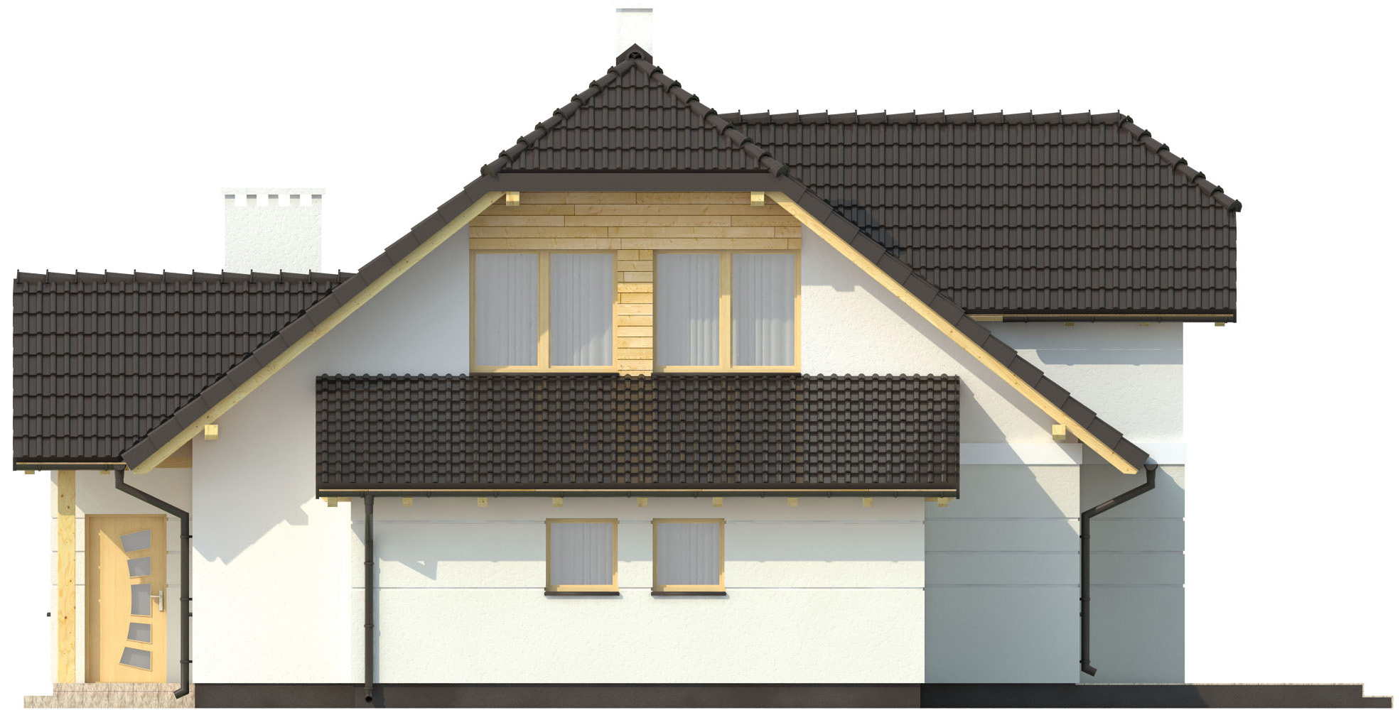Projekt domu L-6167 - elewacja