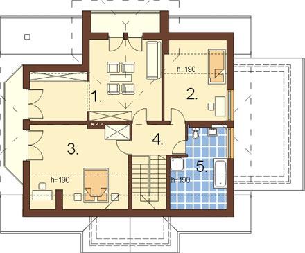 Projekt domu L-6167 - rzut
