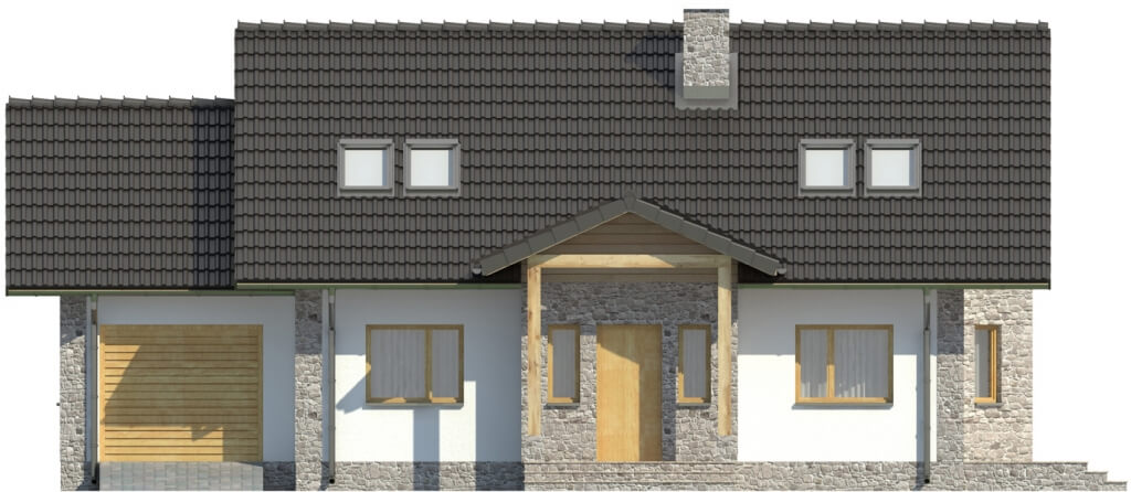 Projekt domu L-6168 - elewacja