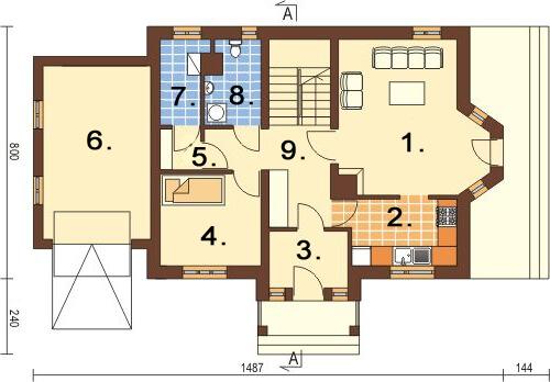 Projekt domu L-6168 - rzut