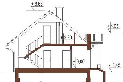Projekt domu L-6168 - przekrój