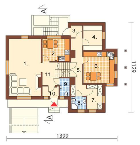 Projekt domu L-6169 - rzut