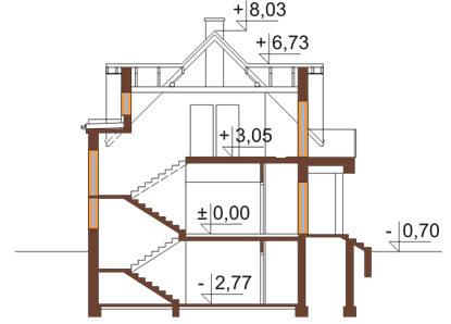 Projekt domu L-6170 - przekrój