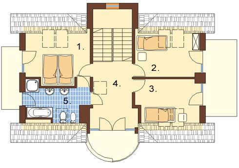 Projekt domu L-6170 - rzut