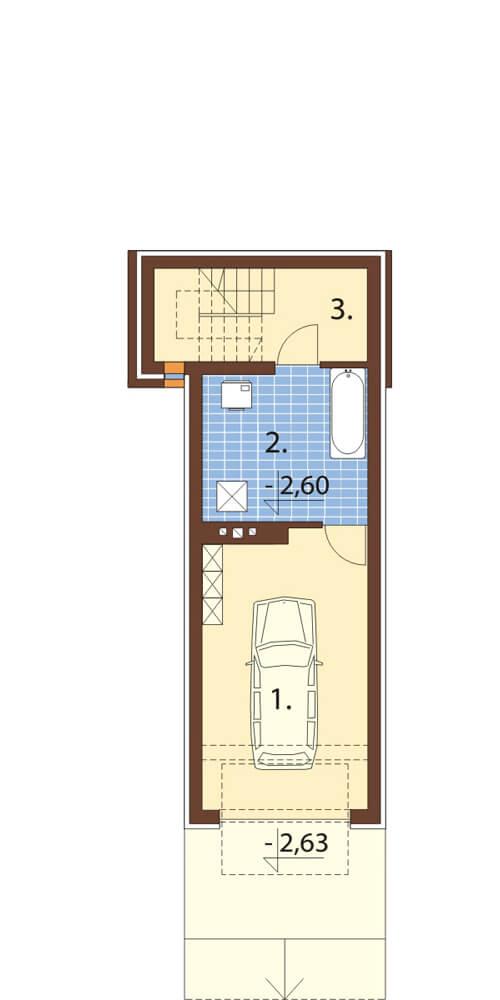 Projekt domu L-6172 - rzut