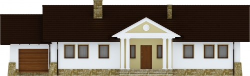 Projekt domu L-6178 - elewacja