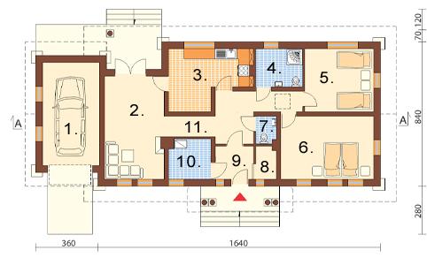 Projekt domu L-6178 - rzut