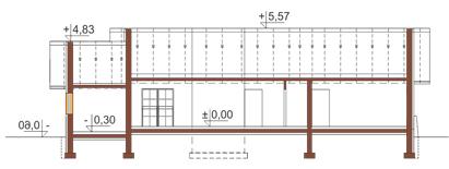 Projekt domu L-6178 - przekrój