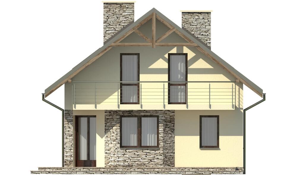 Projekt domu L-6180 - elewacja