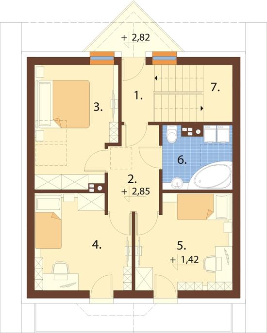 Projekt domu L-6180 - rzut