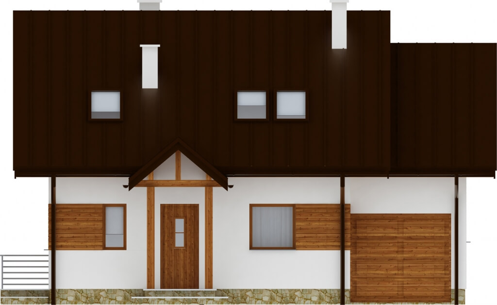 Projekt domu L-6183 - elewacja