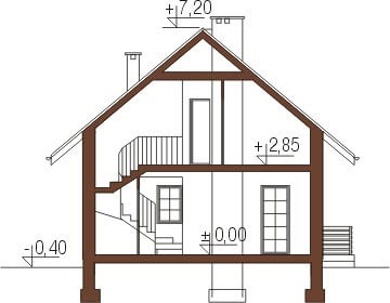 Projekt domu L-6183 - przekrój