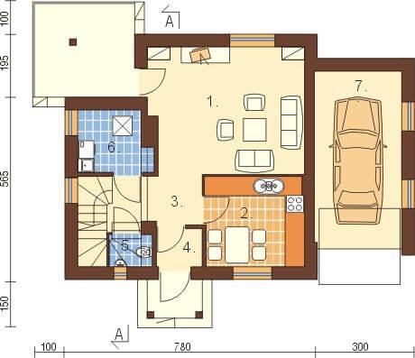 Projekt domu L-6183 - rzut