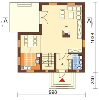 Projekt domu DM-6004 - rzut