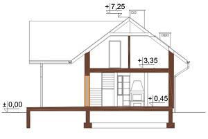 Projekt domu DM-6004 - przekrój