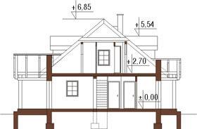 Projekt domu L-6187 - przekrój