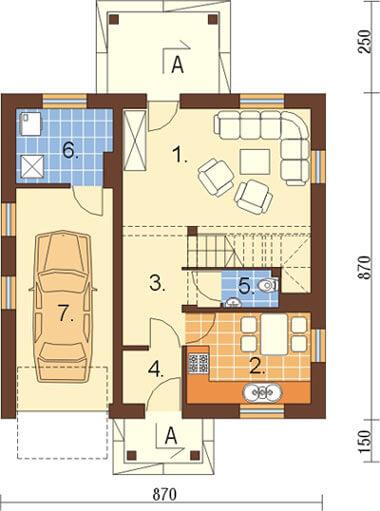Projekt domu L-6187 - rzut