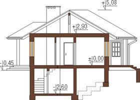 Projekt domu L-6191 - przekrój