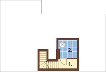 Projekt domu L-6191 - rzut
